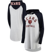 Chicago Bears G-III 4Her by Carl Banks Women's All Division Raglan Sleeve Pullover Hoodie - White/Navy