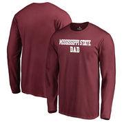 Mississippi State Bulldogs Fanatics Branded Big & Tall Team Dad Long Sleeve T-Shirt - Maroon