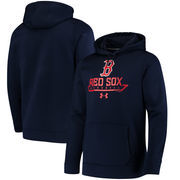 Boston Red Sox Under Armour Performance Fleece Pullover Hoodie - Navy