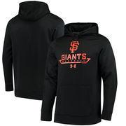 San Francisco Giants Under Armour Performance Fleece Pullover Hoodie - Black
