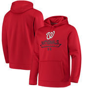 Washington Nationals Under Armour Performance Fleece Pullover Hoodie - Red