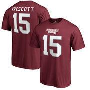 Dak Prescott Mississippi State Bulldogs Fanatics Branded College Legend Name & Number T-Shirt - Maroon