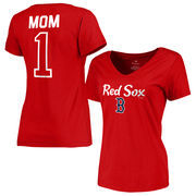 Boston Red Sox Fanatics Branded Women's Plus Sizes #1 Mom T-Shirt - Red