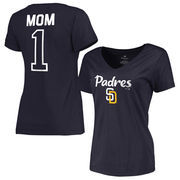 San Diego Padres Fanatics Branded Women's Plus Sizes #1 Mom T-Shirt - Navy