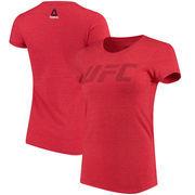 UFC Reebok Women's Logo T-Shirt - Heathered Red