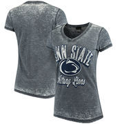 Penn State Nittany Lions 5th & Ocean by New Era Women's Burnout Wash Jersey V-Neck T-Shirt - Navy