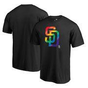 San Diego Padres Fanatics Branded Pride T-Shirt - Black