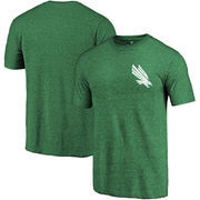 North Texas Mean Green Fanatics Branded Primary Logo Left Chest Distressed Tri-Blend T-Shirt - Kelly Green