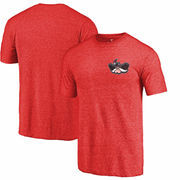 UNLV Rebels Fanatics Branded Primary Logo Left Chest Distressed Tri-Blend T-Shirt - Red