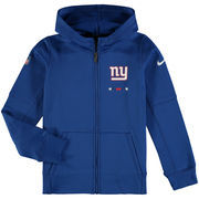 New York Giants Nike Youth Therma Full-Zip Performance Hoodie - Royal