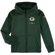Green Bay Packers Nike Youth Therma Full-Zip Performance Hoodie - Green