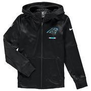 Carolina Panthers Nike Youth Therma Full-Zip Performance Hoodie - Black