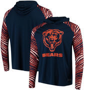 Chicago Bears Zubaz Team Logo Long Sleeve Hooded T-Shirt - Navy/Orange
