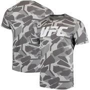 UFC Reebok Fan Gear Camo T-Shirt - Gray