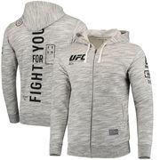 UFC Reebok Fan Gear Full-Zip Hoodie - Gray