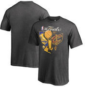 Golden State Warriors vs Cleveland Cavaliers Fanatics Branded Youth 2017 NBA Finals Bound Dueling T-Shirt - Heather Gray