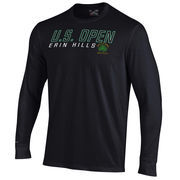 Men's 2017 U.S. Open Under Armour Black Charged Cotton Long Sleeve T-Shirt