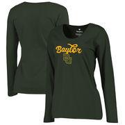 Baylor Bears Fanatics Branded Women's Plus Sizes Freehand Long Sleeve T-Shirt - Green