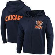 Chicago Bears Quarterback Full-Zip Hoodie - Navy