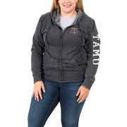 Texas A&M Aggies Women's Plus Size Homecoming Full-Zip Hoodie – Charcoal