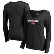 Louisville Cardinals Fanatics Branded Women's Freehand Long Sleeve T-Shirt - Black