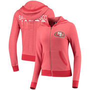 San Francisco 49ers 5th & Ocean by New Era Women's Knit Sweater Full-Zip Hoodie -   Scarlet