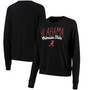 Alabama Crimson Tide Alta Gracia (Fair Trade) Women's Ann Cozy Brushed Hacci Tri-Blend Sweatshirt - Black