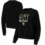 Army Black Knights Alta Gracia (Fair Trade) Women's Ann Cozy Brushed Hacci Tri-Blend Sweatshirt - Black