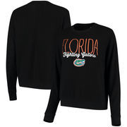 Florida Gators Alta Gracia (Fair Trade) Women's Ann Cozy Brushed Hacci Tri-Blend Sweatshirt - Black