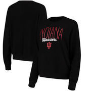Indiana Hoosiers Alta Gracia (Fair Trade) Women's Ann Cozy Brushed Hacci Tri-Blend Sweatshirt - Black