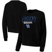 Kansas Jayhawks Alta Gracia (Fair Trade) Women's Ann Cozy Brushed Hacci Tri-Blend Sweatshirt - Black
