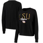 LSU Tigers Alta Gracia (Fair Trade) Women's Ann Cozy Brushed Hacci Tri-Blend Sweatshirt - Black