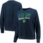 Notre Dame Fighting Irish Alta Gracia (Fair Trade) Women's Ann Cozy Brushed Hacci Tri-Blend Sweatshirt - Navy