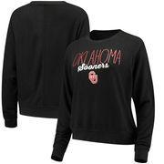 Oklahoma Sooners Alta Gracia (Fair Trade) Women's Ann Cozy Brushed Hacci Tri-Blend Sweatshirt - Black