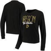 Oregon Ducks Alta Gracia (Fair Trade) Women's Ann Cozy Brushed Hacci Tri-Blend Sweatshirt - Black