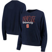 Syracuse Orange Alta Gracia (Fair Trade) Women's Ann Cozy Brushed Hacci Tri-Blend Sweatshirt - Navy