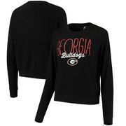 Georgia Bulldogs Alta Gracia (Fair Trade) Women's Ann Cozy Brushed Hacci Tri-Blend Sweatshirt - Black
