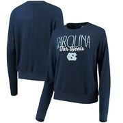 North Carolina Tar Heels Alta Gracia (Fair Trade) Women's Ann Cozy Brushed Hacci Tri-Blend Sweatshirt - Navy