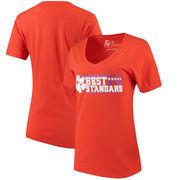 Clemson Tigers Alta Gracia (Fair Trade) Women's Best Is The New Standard V-Neck T-Shirt - Orange