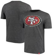 San Francisco 49ers Majestic Hyper Logo T-Shirt - Heathered Black