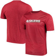 San Francisco 49ers Majestic Gridiron Cool Base Synthetic T-Shirt – Scarlet