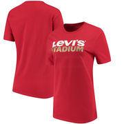San Francisco 49ers Levi's Women's Stadium Logo T-Shirt – Scarlet