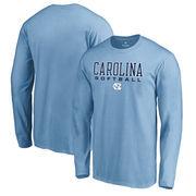 North Carolina Tar Heels Fanatics Branded True Sport Softball Long Sleeve T-Shirt - Light Blue