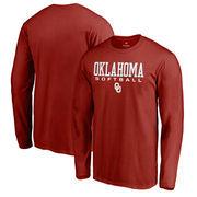 Oklahoma Sooners Fanatics Branded True Sport Softball Long Sleeve T-Shirt - Cardinal