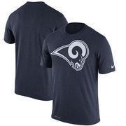 Los Angeles Rams Nike Legend Logo Essential Performance T-Shirt – Navy