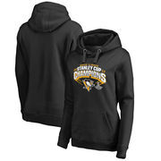 Pittsburgh Penguins Fanatics Branded Women's 2017 Stanley Cup Champions Plus Size Slapshot Pullover Hoodie - Black