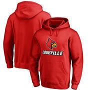 Louisville Cardinals Fanatics Branded Team Lockup Pullover Hoodie - Red