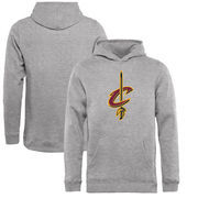 Cleveland Cavaliers Fanatics Branded Youth Primary Logo Pullover Hoodie- Heathered Gray