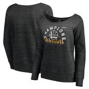 Golden State Warriors Let Loose by RNL Women's 2017 NBA Finals Champions Key Crew Sweatshirt - Charcoal