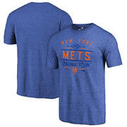 New York Mets Fanatics Branded Cooperstown Collection Doubleday Tri-Blend T-Shirt - Royal